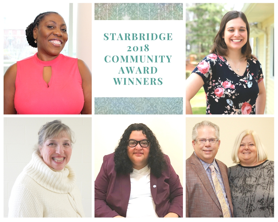 Photo collage showing Starbridge 2018 Community award winners