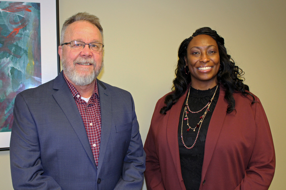 Colin Garwood, President/CEO, and Nikisha Ridgeway, COO